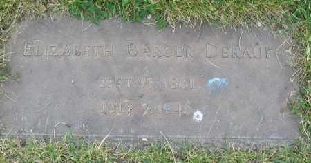 BARGER DERAUF, ELIZABETH - Union County, Iowa | ELIZABETH BARGER DERAUF