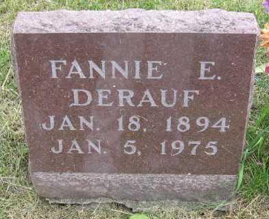 DERAUF, FANNIE E. - Union County, Iowa | FANNIE E. DERAUF