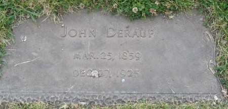 DERAUF, JOHN - Union County, Iowa   JOHN DERAUF