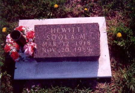 HEWITT, SOOLA - Union County, Iowa | SOOLA HEWITT