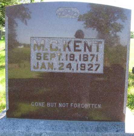 KENT, M. C. - Union County, Iowa | M. C. KENT