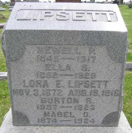 LIPSETT, LORA E. - Union County, Iowa | LORA E. LIPSETT