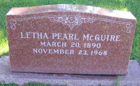 MCGUIRE, LETHA PEARL - Union County, Iowa | LETHA PEARL MCGUIRE