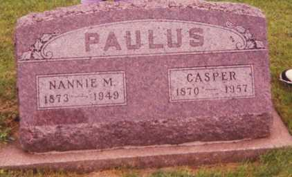 PAULUS, NANNIE M. - Union County, Iowa | NANNIE M. PAULUS