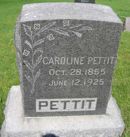 PETTIT, CAROLINE - Union County, Iowa   CAROLINE PETTIT