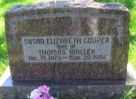COOPER WALLER, SUSAN ELIZABETH - Union County, Iowa   SUSAN ELIZABETH COOPER WALLER