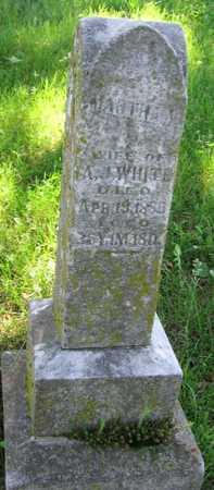 WHITE, MARTHA A. - Union County, Iowa   MARTHA A. WHITE
