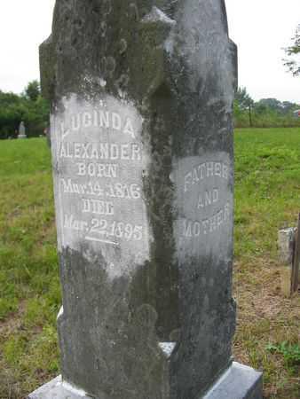ALEXANDER, LUCINDA - Van Buren County, Iowa | LUCINDA ALEXANDER