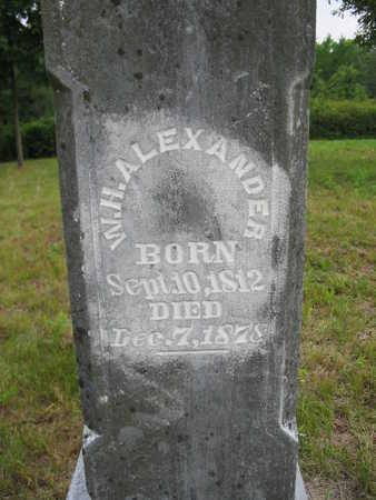 ALEXANDER, W.H. - Van Buren County, Iowa   W.H. ALEXANDER