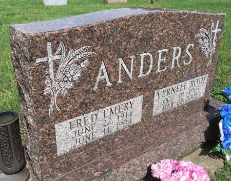 ANDERS, FRED EMERY - Van Buren County, Iowa | FRED EMERY ANDERS