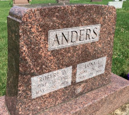 ANDERS, ROBERT D - Van Buren County, Iowa | ROBERT D ANDERS