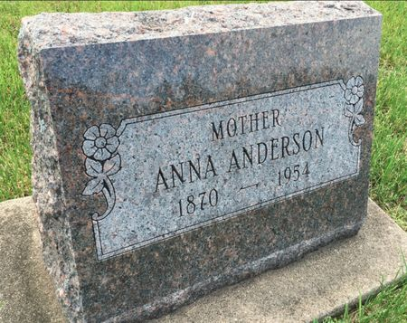 PETERSON ANDERSON, ANNA - Van Buren County, Iowa | ANNA PETERSON ANDERSON