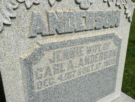ANDERSON, JENNIE - Van Buren County, Iowa | JENNIE ANDERSON