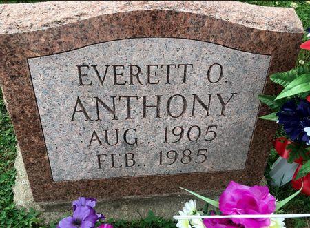 ANTHONY, EVERETT O - Van Buren County, Iowa | EVERETT O ANTHONY