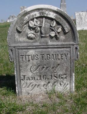 BAILEY, TITUS - Van Buren County, Iowa | TITUS BAILEY