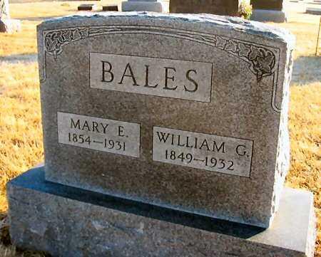 COVEY BALES, MARY E. - Van Buren County, Iowa | MARY E. COVEY BALES