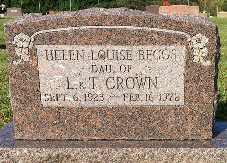CROWN BEGGS, HELEN LOUISE - Van Buren County, Iowa | HELEN LOUISE CROWN BEGGS