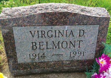 BELMONT, VIRGINIA D - Van Buren County, Iowa   VIRGINIA D BELMONT