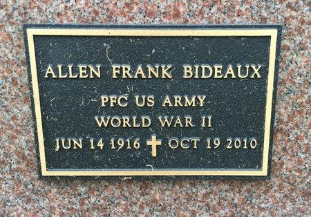 BIDEAUX, ALLEN FRANK - Van Buren County, Iowa   ALLEN FRANK BIDEAUX