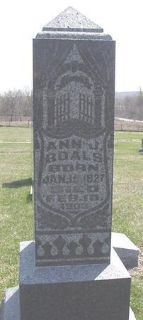 BOALS, ANN - Van Buren County, Iowa   ANN BOALS