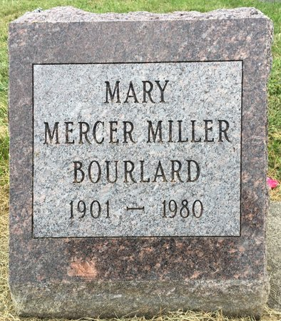 BOURLARD, MARY MERCER MILLER - Van Buren County, Iowa | MARY MERCER MILLER BOURLARD