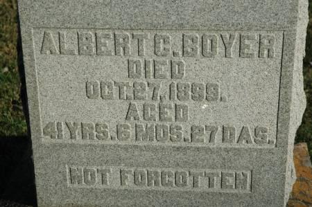 BOYER, ALBERT C - Van Buren County, Iowa   ALBERT C BOYER
