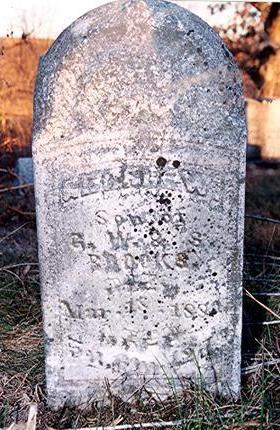 BROOKS, GEORGE W. - Van Buren County, Iowa   GEORGE W. BROOKS