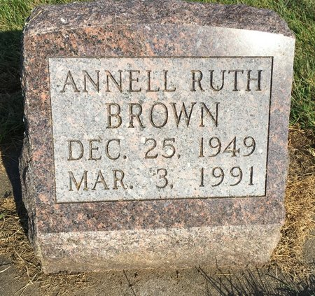 BROWN, ANNELL RUTH - Van Buren County, Iowa | ANNELL RUTH BROWN