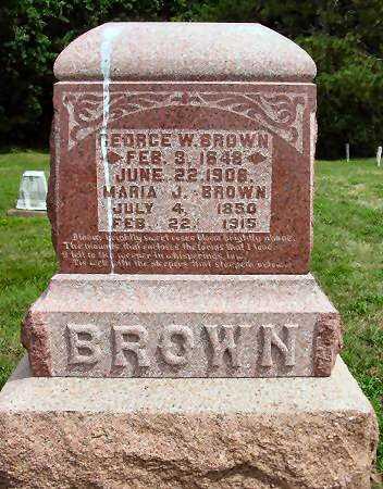 BROWN, MARIA J. - Van Buren County, Iowa | MARIA J. BROWN