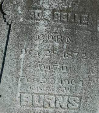 BURNS, ADA BELLE - Van Buren County, Iowa   ADA BELLE BURNS