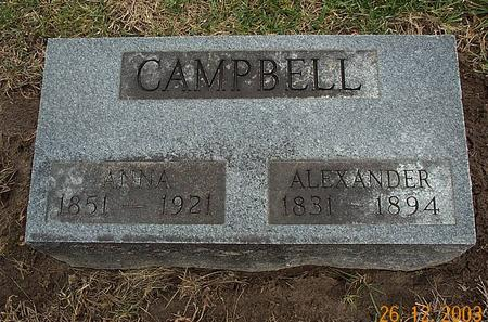 MCCOMAS CAMPBELL, KATE ANNA - Van Buren County, Iowa | KATE ANNA MCCOMAS CAMPBELL