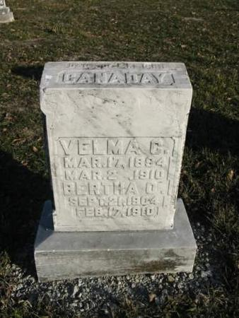CANDADAY, VELMA C.; BERTHA O. - Van Buren County, Iowa | VELMA C.; BERTHA O. CANDADAY