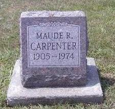 RINABERGER CARPENTER, MAUDE - Van Buren County, Iowa | MAUDE RINABERGER CARPENTER