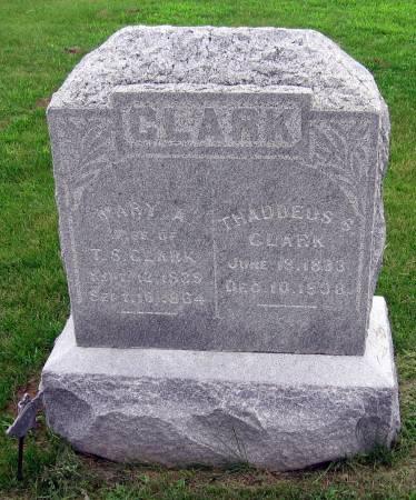 CLARK, THADDEUS S - Van Buren County, Iowa | THADDEUS S CLARK
