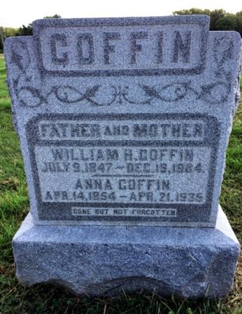 HAWKINS COFFIN, ANNA - Van Buren County, Iowa | ANNA HAWKINS COFFIN