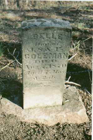 COLEMAN, BELLE - Van Buren County, Iowa | BELLE COLEMAN