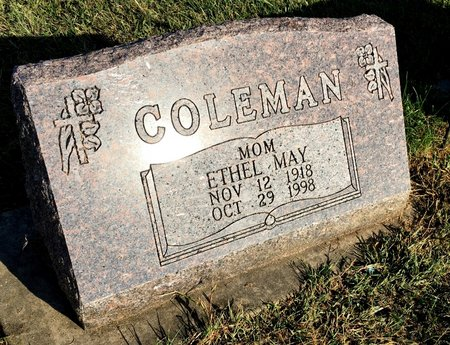 COLEMAN, ETHEL MAY - Van Buren County, Iowa | ETHEL MAY COLEMAN