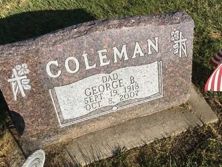 COLEMAN, GEORGE B - Van Buren County, Iowa | GEORGE B COLEMAN
