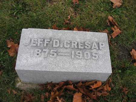 CRESAP, JEFF D. - Van Buren County, Iowa | JEFF D. CRESAP