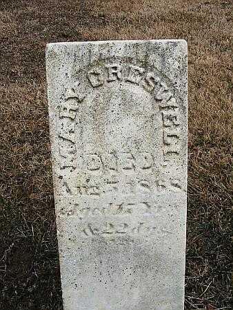 CRESWELL, MARY - Van Buren County, Iowa | MARY CRESWELL