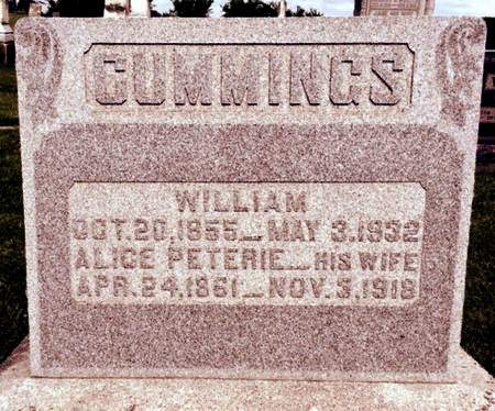 PETERIE CUMMINGS, ALICE - Van Buren County, Iowa | ALICE PETERIE CUMMINGS