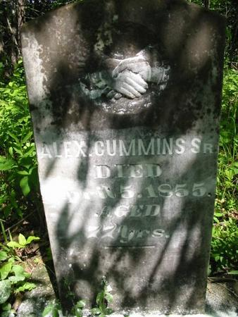 CUMMINS, ALEX. SR. - Van Buren County, Iowa   ALEX. SR. CUMMINS