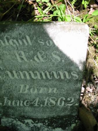 CUMMINS, INFANT SON - Van Buren County, Iowa | INFANT SON CUMMINS
