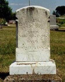 DAVIS, ELIZABETH SADE - Van Buren County, Iowa | ELIZABETH SADE DAVIS