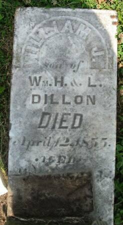DILLON, WILLIAM J. - Van Buren County, Iowa   WILLIAM J. DILLON