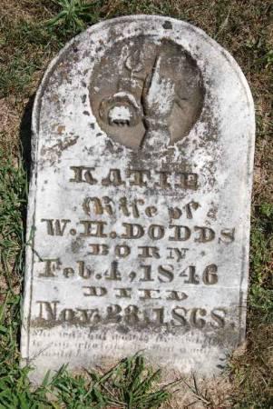 GADDIS DODDS, KATIE - Van Buren County, Iowa   KATIE GADDIS DODDS