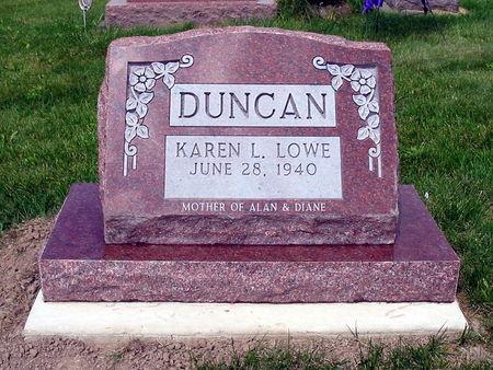 LOWE DUNCAN, KAREN LUCILE - Van Buren County, Iowa | KAREN LUCILE LOWE DUNCAN