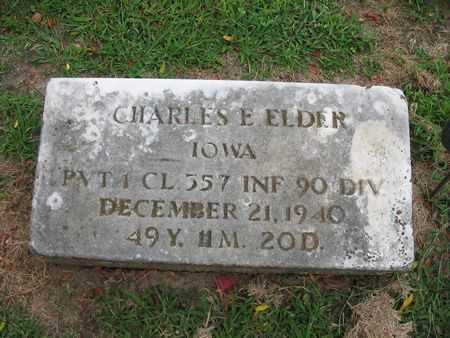 ELDER, CHARLES E. - Van Buren County, Iowa   CHARLES E. ELDER