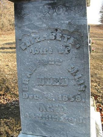 ELLIS, ELIZABETH - Van Buren County, Iowa | ELIZABETH ELLIS