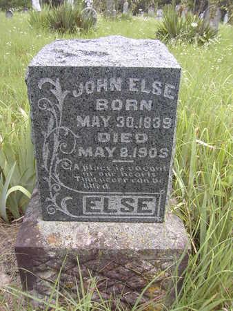 ELSE, JOHN - Van Buren County, Iowa   JOHN ELSE